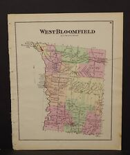 New York  Ontario County Map West Bloomfield Township 1874 W15#23