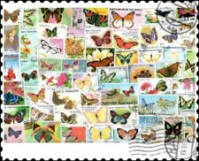 Butterflies : 100 Different Stamps Collection