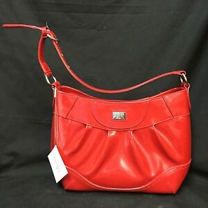 Beijo Luxe Purse Great Outlook Shoulder Bag Lipstick Red Patent Leather Shiny