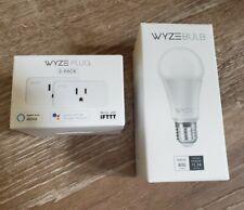 Wyze Plug Smart Home WiFi 2-pack + 1 Wyze Bulb Both FACTORY SEALED!
