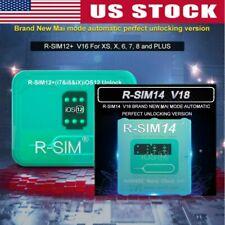 R-SIM14 V18/12+V16 Nano Unlock RSIM Card for iPhone XS MAX/XR/8/7/6 iOS12/11 USA