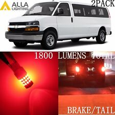 Alla Lighting 39-SMD LED Brake/Stop Tail Lights Bulbs Lamps for Chevy, Vivid Red