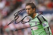 FULHAM: MAARTEN STEKELENBURG SIGNED 6x4 ACTION PHOTO+COA