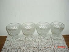 """4-PIECE ANCHOR HOCKING """"WEXFORD"""" 3 1/2"""" SHERBERT-PUDDING GLASSES/CLEARANCE!"""