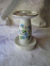 Vintage Blue Violets Forget Me Nots Toothbrush Holder Porcelain China Japan