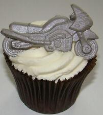 Silicone mould 6cm motorbike bike racing biker birthday cake cupcake fimo icing