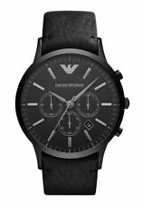 NEW EMPORIO ARMANI AR2461 MENS BLACK CHRONOGRAPH WATCH - 2 YEARS WARRANTY