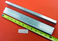 "2 Pieces 1/2"" X 1-1/2"" ALUMINUM 6061 FLAT BAR 12"" long T6511 Plate Stock .50"""