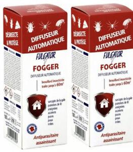 *Lot de 2* Anti punaises lit araignées acariens puces poux mites Fogger FULGATOR