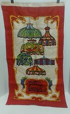 Tiffany Stained Glass Lamp Linen Silk Screen Advertisement Vintage Lamps Display
