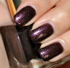 Estee Lauder EXTRAVAGANT NIGHT Purple Black Silver BNIB Nail Polish Chic RARE!!!
