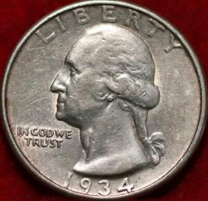 1934-D Denver Mint Silver Washington Quarter