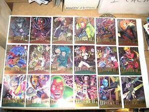 1995 FLEER MARVEL METAL 138 BASE FOIL CARD SET! VENOM AVENGERS ENDGAME! X-MEN!