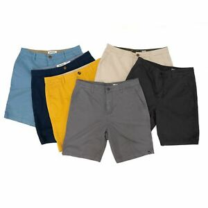 Mens Quiksilver Shorts Chino Everyday 100% Cotton Casual Button Holiday Summer