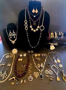 69 Pcs Vintage Jewelry CARA STIMMEL PANDORA CLIFT PEWTER HERITAGE SARAH COVENTRY