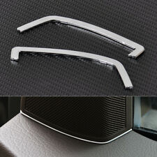 Chrome Front Door Stereo Speaker Cover Trim For Mercedes-Benz X204 GLK 2009-2015
