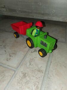 Playmobil 123 , Trecker mit Anhänger