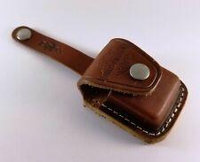 Vintage Zippo / Harley Davidson Brown Leather Lighter Holder With Belt Strap