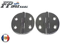 Charnière inox Ronde Diamètre 65mm Epaiseur 4mm ( Lot de  2 )