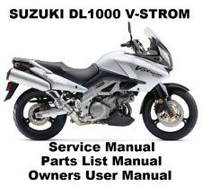SUZUKI DL1000S V-STROM Owners Workshop Service Repair Parts Manual PDF on CD-R