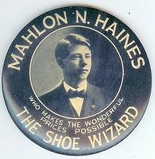 Vintage THE SHOE WIZARD Celluloid Pocket Mirror ~ Mahlon N. Haines