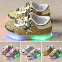 Baby Kids Boys Girls LED Shoes Light Up Luminous Sport Trainers Sneakers DT 02
