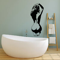 Vinyl Wall Decal Naked Woman Sexy Back Girl Hot Stickers (2053ig)