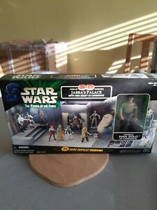 Star Wars Power of the Force Jabbas Palace diorama with Han Solo in Carbonite