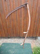 "Vintage Antique 57"" Long Scythe Hay Grain Sickle Farm Tool Blade is 29"" Long"