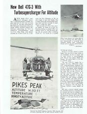 New Bell 47G-3 with turbosupercharger for altitude reprint Flight Mag.- Dec 1959
