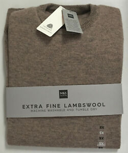 """Mens M&S Size XS (36"""" Chest) Extra Fine Lambswool Jumper Sweater"""