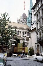 St. Pierre Cathedral Geneva Switzerland Photo 1978 35mm Slide Family Travel #1