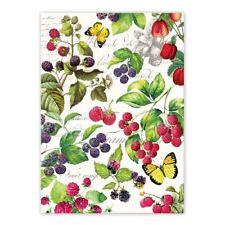Michel Design Works Cotton Kitchen Tea Towel Berry Patch - NEW