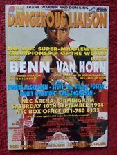 Nigel Benn V Darrin Van Horn - 12 x 8 Boxe Poster - 1994