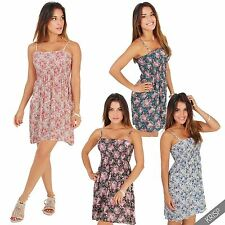 Hip Length Cotton Floral Sleeveless Tops & Shirts for Women