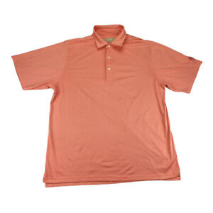 Donald Ross Mens Size Large Coral SS Golf Polo Shirt Nevillewood Country Club
