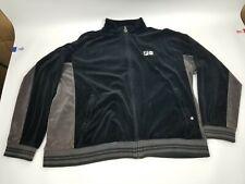 FILA Black Velvet Jacket Sz Large