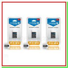3 Batterie GoPro Hero 3 Pile Ricaricabili 3,7v 1100mah Action Cam AHDBT-301