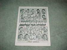 1982 Milwaukee Bucks NBA Basketball Team Poster w/Steve Mix Dave Cowens