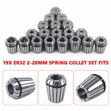 Metric 19pcs Er32 2 20mm Spring Collet Set For Cnc Milling Engraving Machine