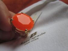 TANGERINE Kate Spade Crystal Confection 5 6 7 Gold SUN ORANGE CANDY Stone Ring