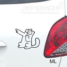 Aufkleber Simons Cat 10cm S133 Farbe nach Wahl für Auto Bus Heckfenster Wände