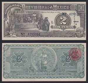 Messico 2 pesos 1916 Gobierno Provisional FDS-/UNC-  A-07