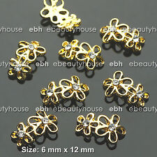 5 PCS Nail Art Daisy Flower Charms Decorations Alloy Jewelry Rhinestone #EH-248