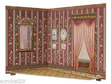 Room Box for Dolls LIVING ROOM Dollhouse Miniature Scale 1:12 Model Kit