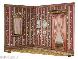 Room Box for Dolls LIVING ROOM Dollhouse Miniature Scale 1:12 Model Kit