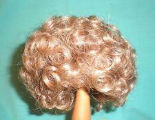 """Peluca de muñeca/cabello humano 12"""" a 12.5"""" Marrón/pelo rizado"""