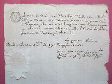 MANOSCRITTO originale dell'epoca -S.Maria Formosa-matrimonio-1807 Venezia