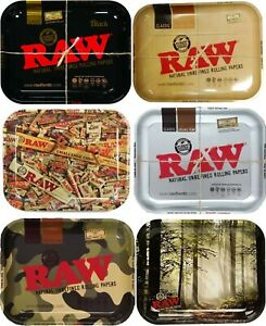 Official Genuine RAW Large Tray Rolling Skinning Up Assorted Designs Free PP