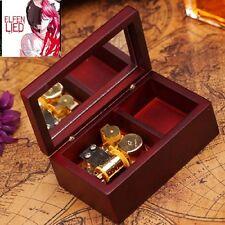 Rectangle Wood Jewelry Wind Up Music Box : Elfen Lied - Lilium